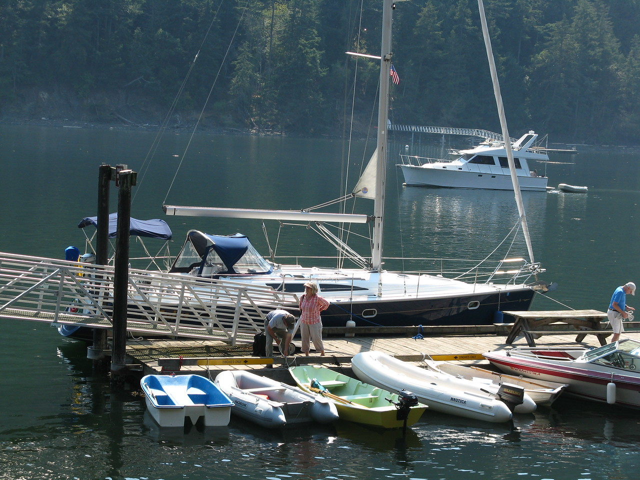 On Wednesday, we sailed from Roche Harbor to Reid Harbor at Stuart Island.