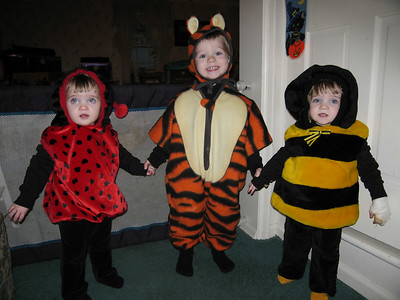 Our three trick-or-treaters!