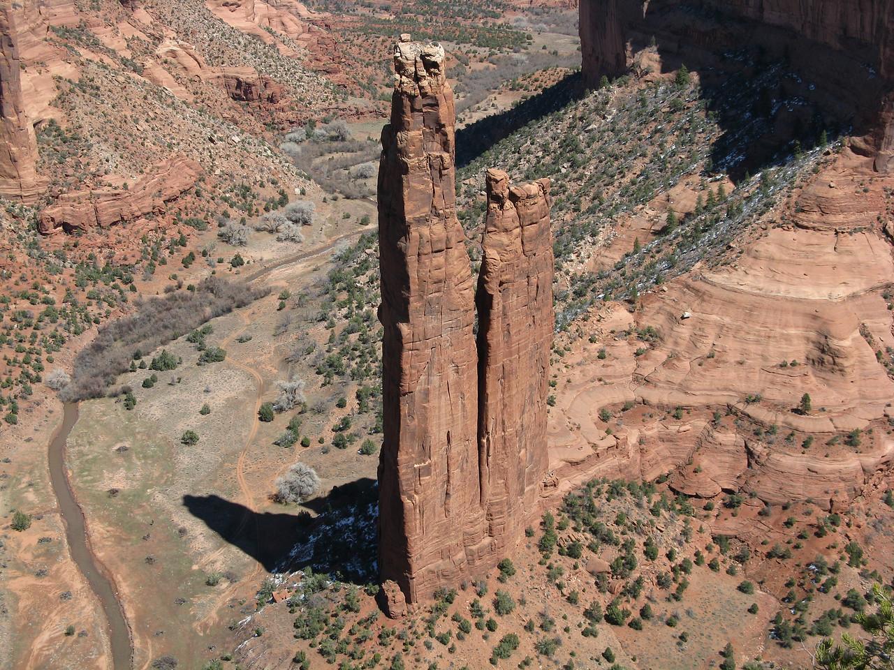 Spider Rock, seen from the overlook.