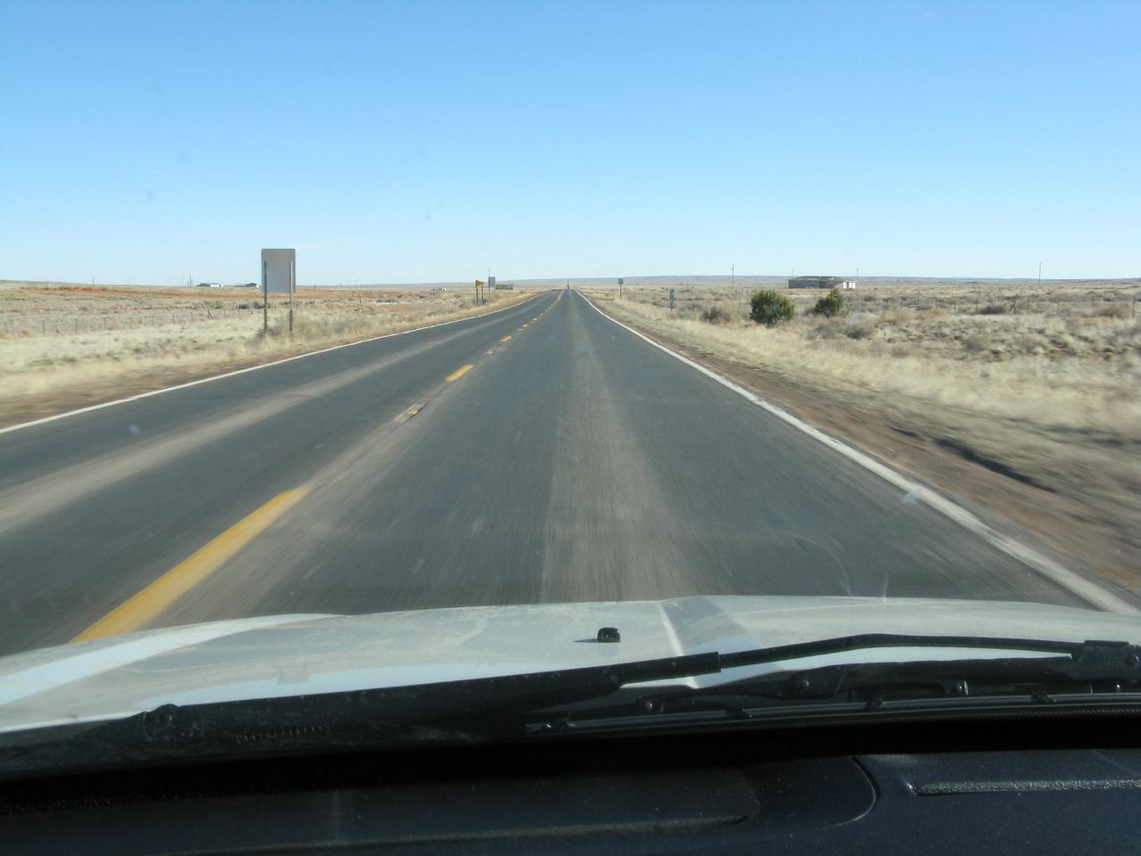 In Ganado, we turned north towards Chinle.