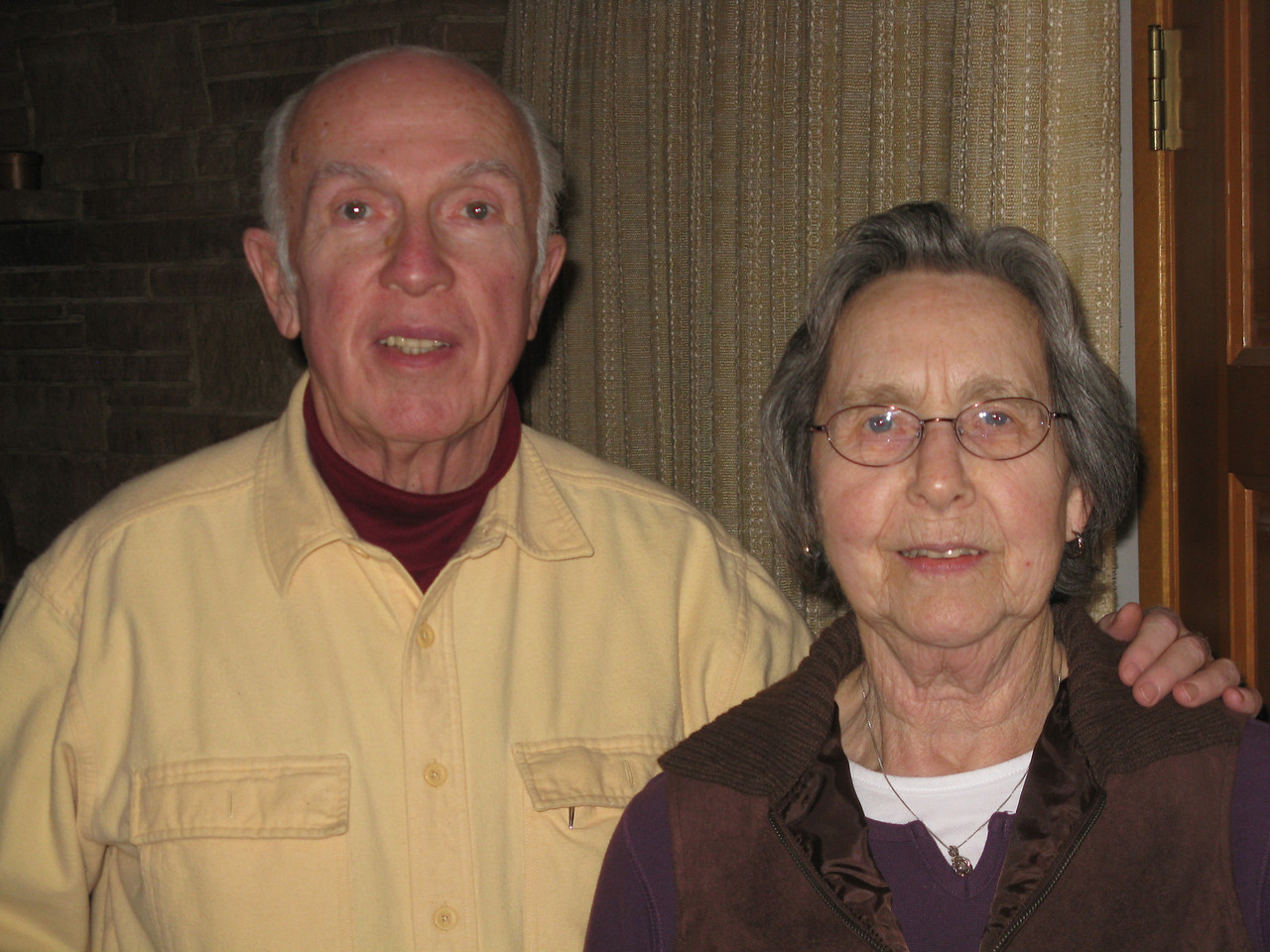 Uncle Carl and Aunt Mary.