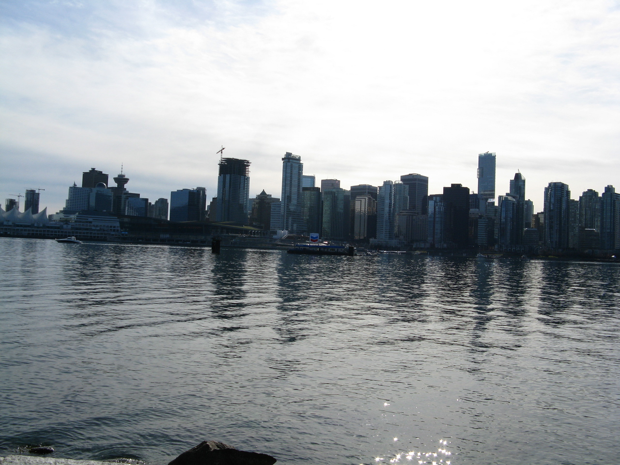 Downtown Vancouver from across Coal Harbour.