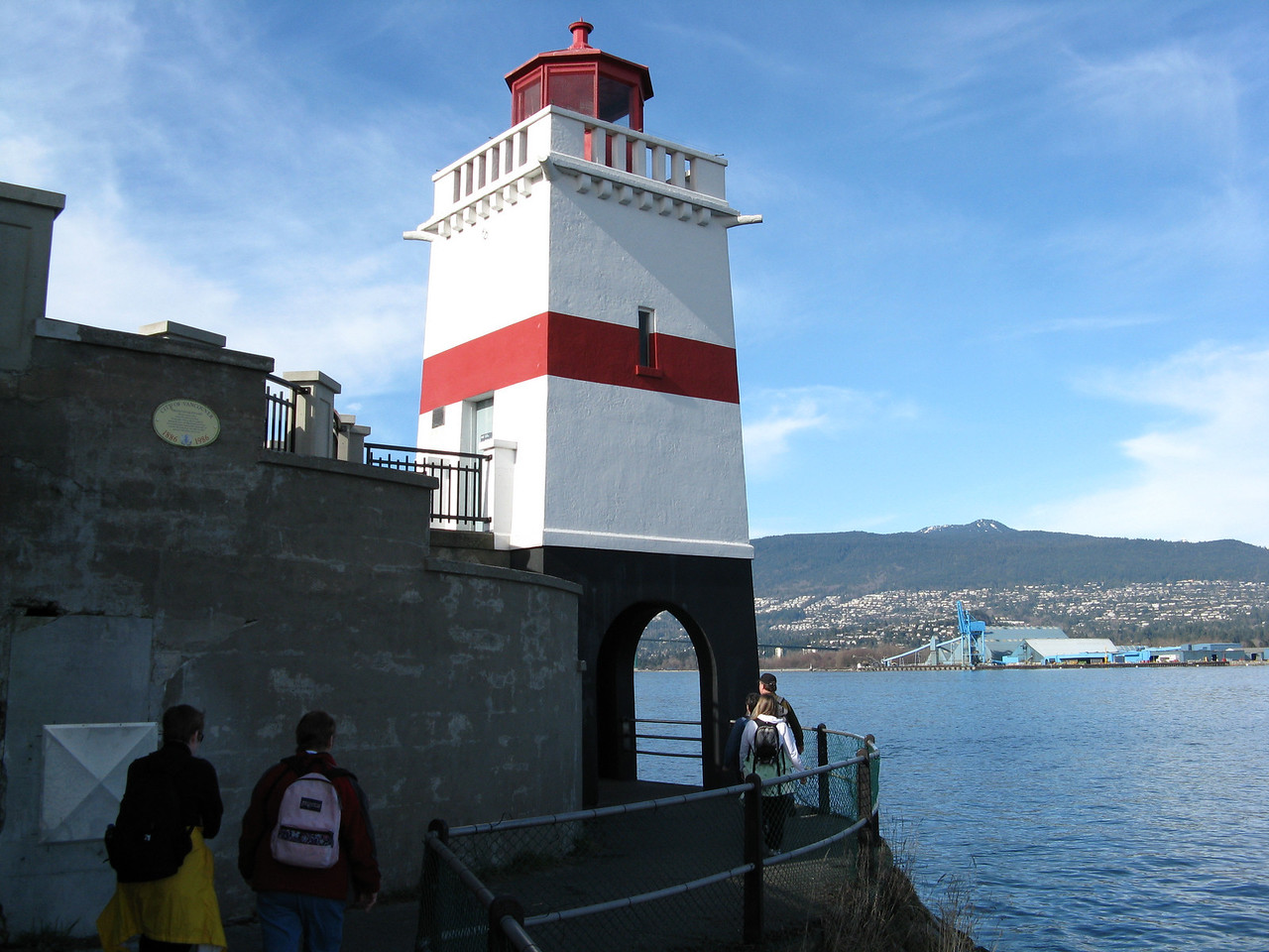 Brockton Point Lighthouse facing Burrard Inlet on the east side of the park.