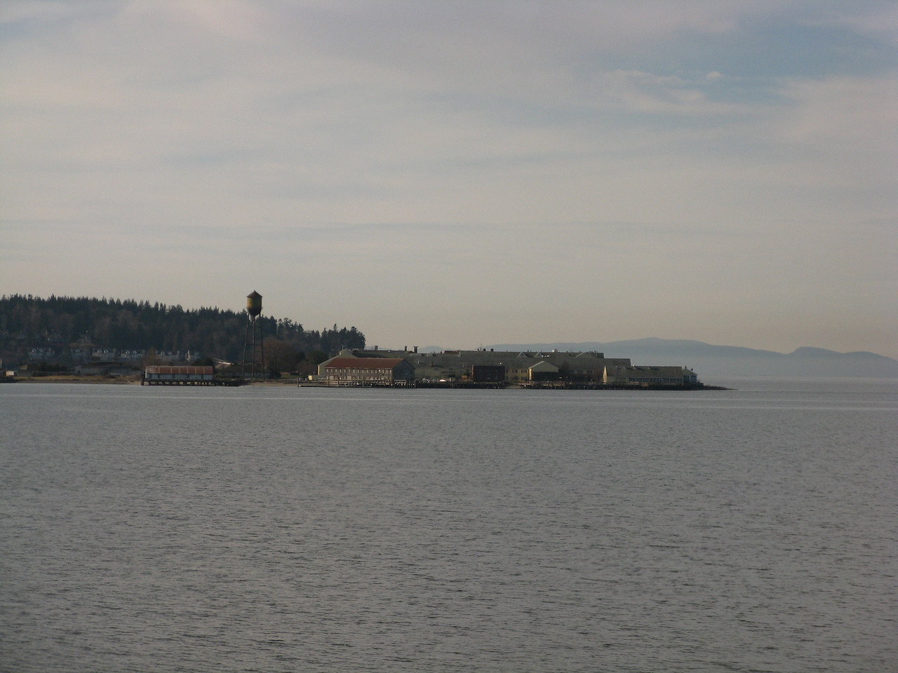 Semiahmoo sits across Drayton Harbor from the Canadian-U.S. border crossing at Blaine, Washington.