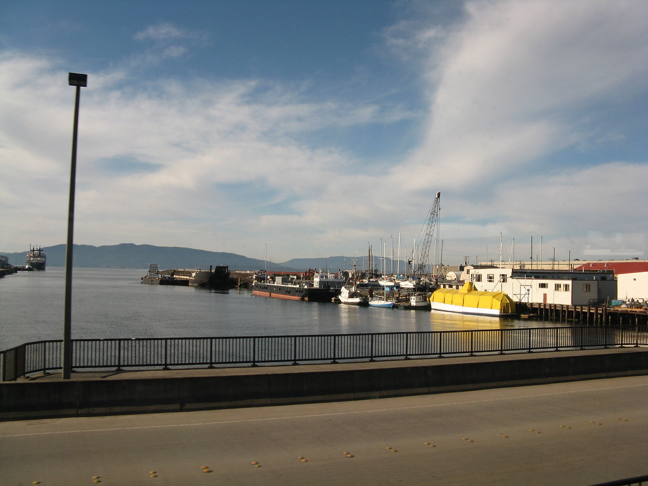 Looking west to Bellingham Bay near the central business district.