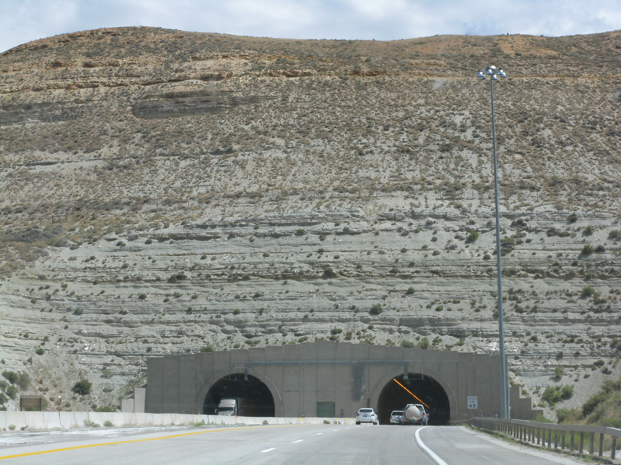 A short auto tunnel on Interstate 80 in western Wyoming.