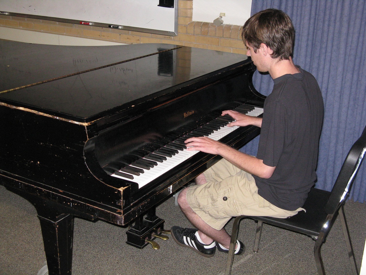 Kevin has a jazz piano audition shortly before classes start on August 23rd.