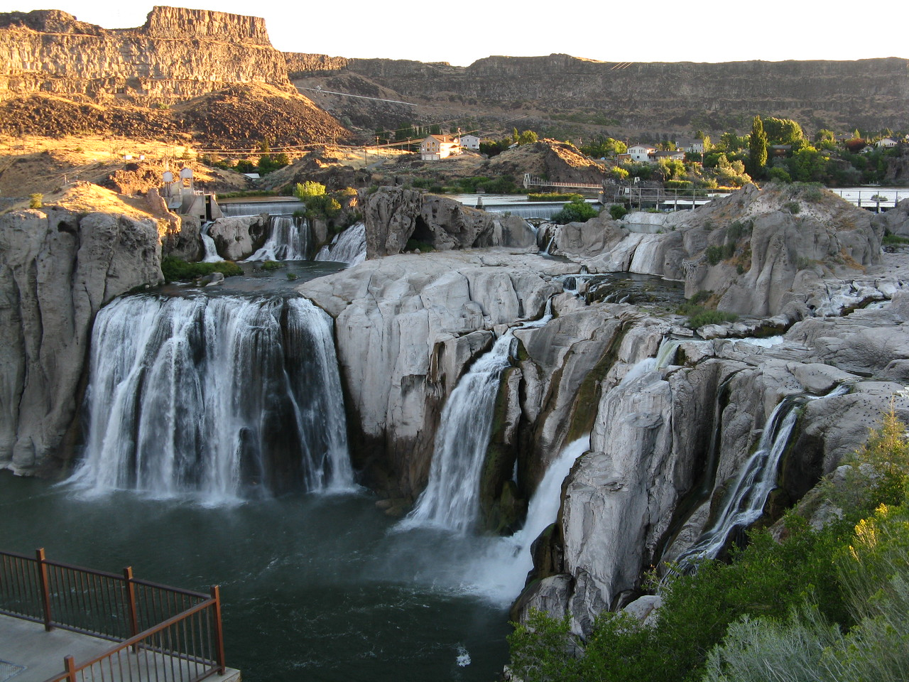 This is a last view of Shoshone Falls.