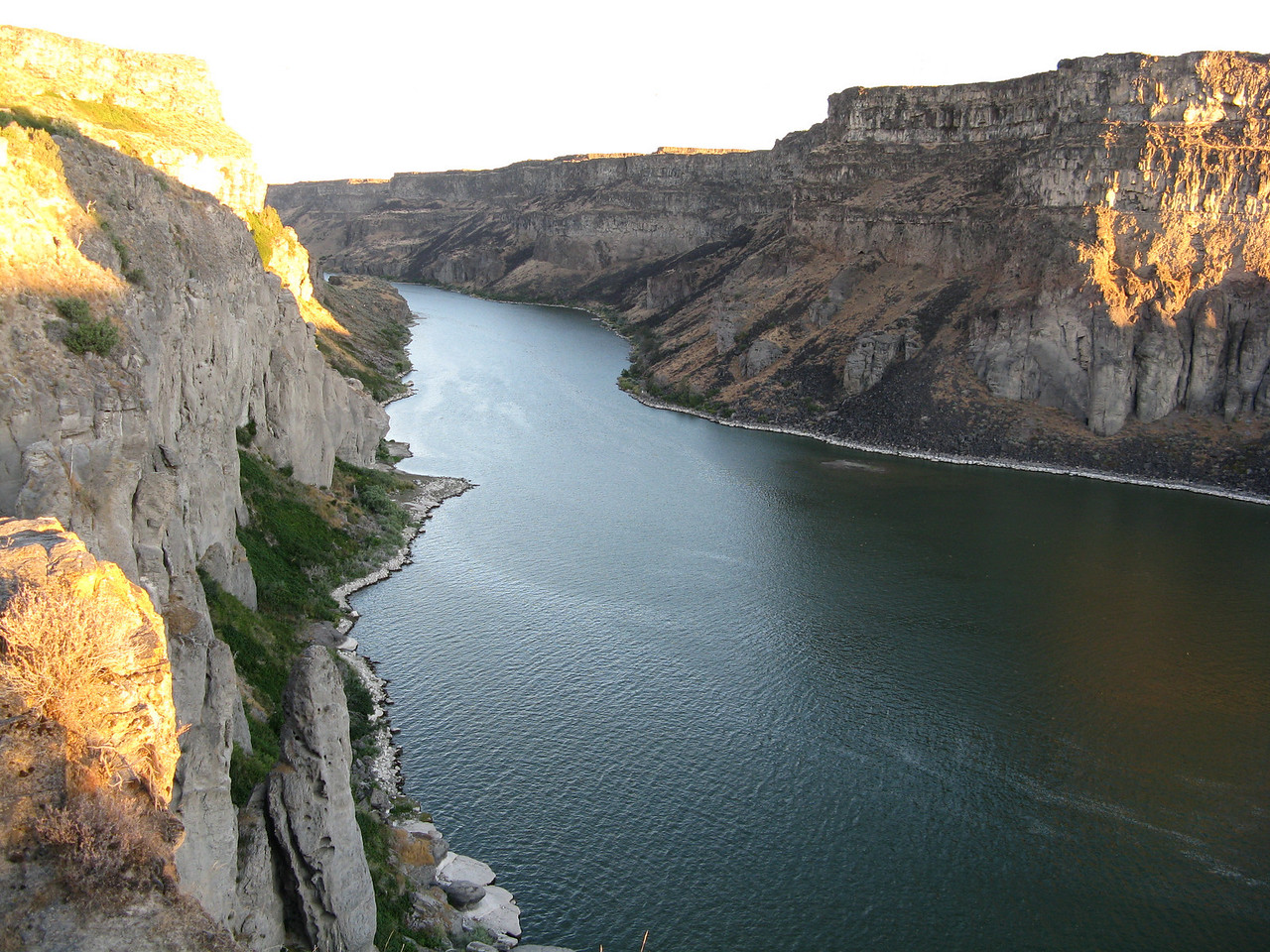 The Snake River, just downriver from Shoshone Falls.
