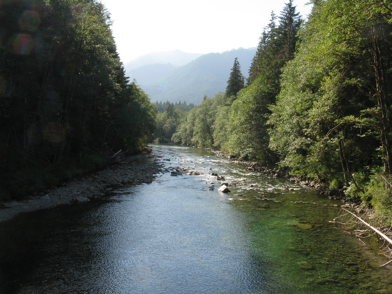 A downstream view of the Middle Fork River.  We had a great hike.