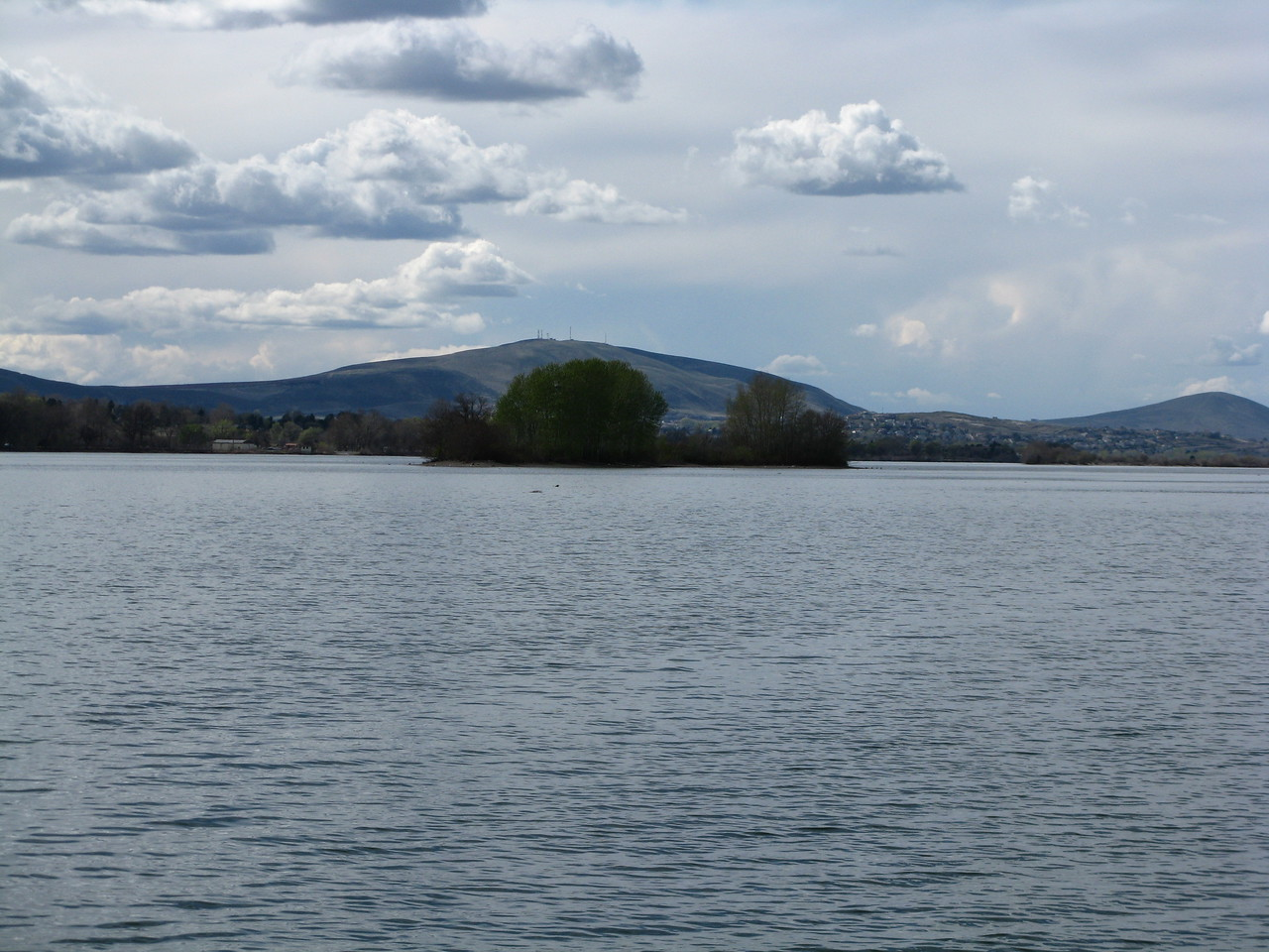 We passed this island in the Columbia River.