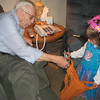 Trick or Treating with Great Grandparents