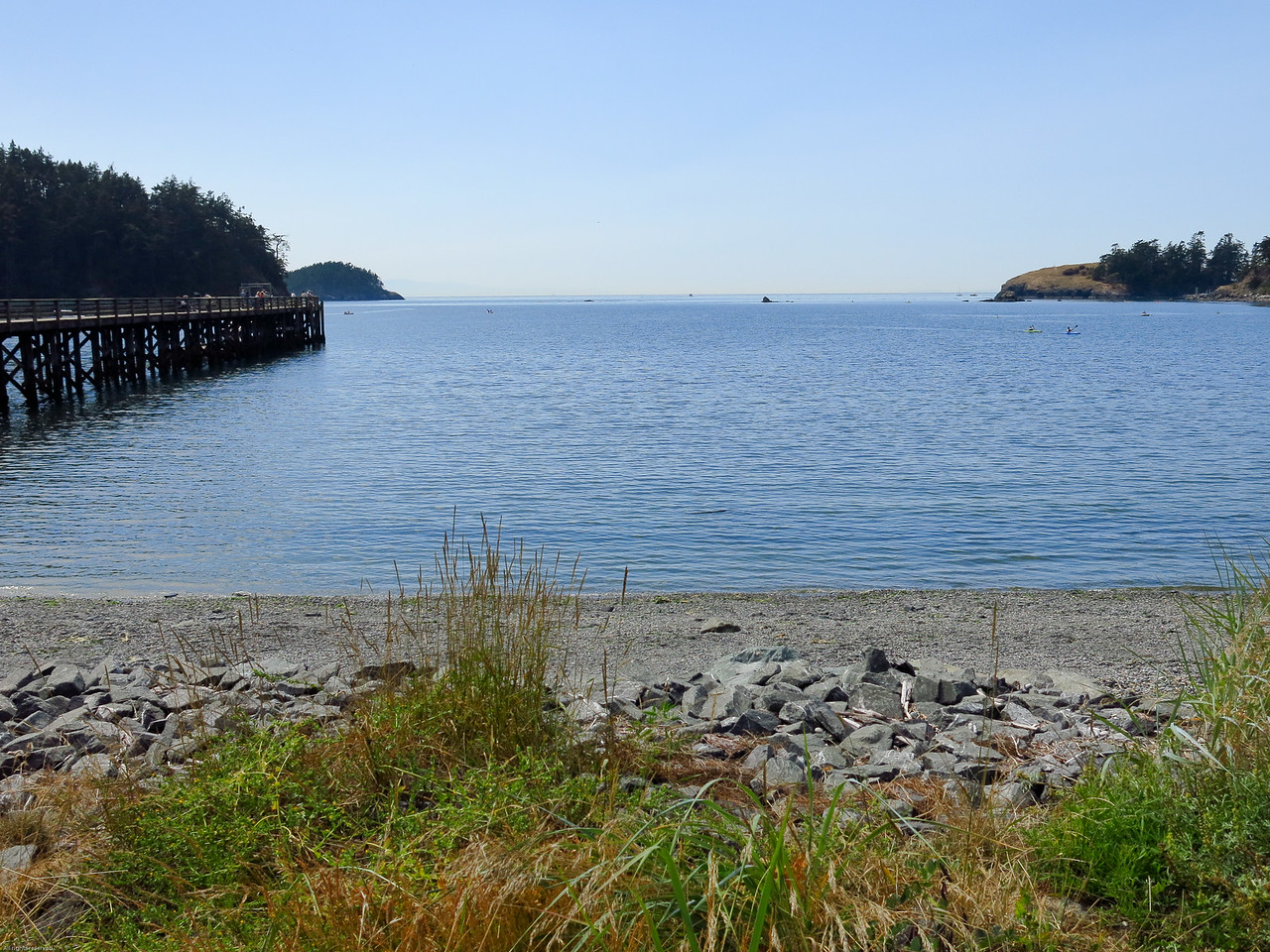 Bowman Bay with pier on the right