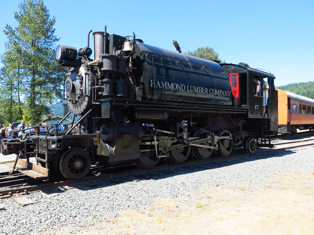 Steam locomotive #17 at Mount Rainier Scenic Railroad