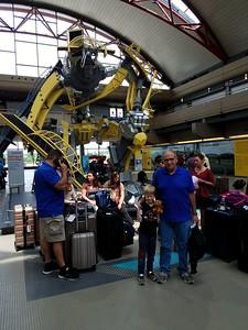 The robot made of Pittsburgh landmarks