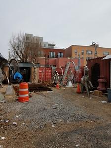 Sculpture garden in Red Hook