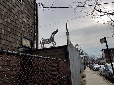 Horse at Red Hook sculpture garden