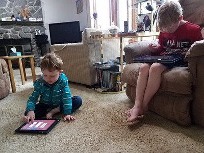Playing games on the iPads