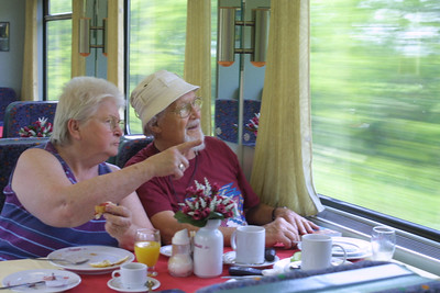 A train trip to Vienna.