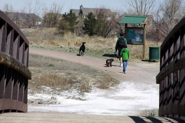 Walked the dogs April 11, 2010