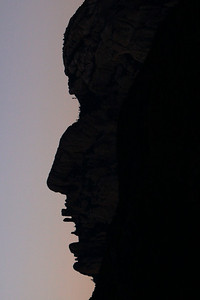 Head of Cochise rotated 90 deg to see facial profile.