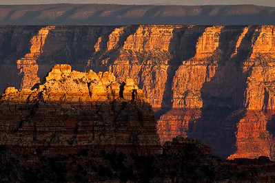 The long Shadows cast on the South Rim. Taken from Cape Royal, North Rim.