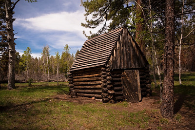 The Salt Cabin Greenland lake on the North Rim.