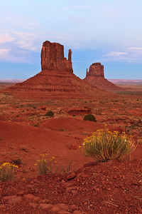 Twilight afterglow Monument Valley
