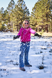 First Snow Ball fight North Rim