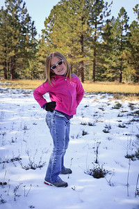 Sassy in the Snow North Rim
