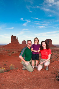 Near Sunset  Monument Valley