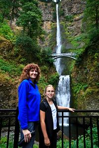 2. Gina  & Ariahla Multnomah Falls
