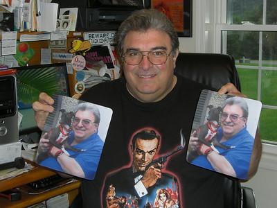 2009 Aug 12 Dad with Baci Mouse Pads CIMG2261