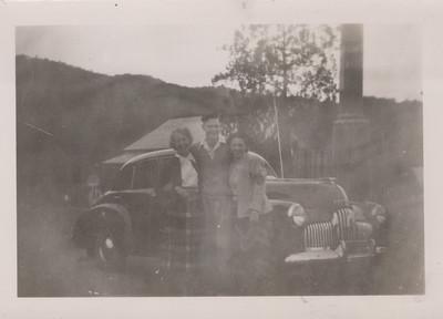 Barbara, Neville and Mrs Warren