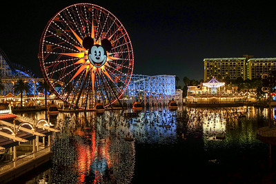 California Adventure Theme Park and the Mickey Mouse Ferris Wheel.