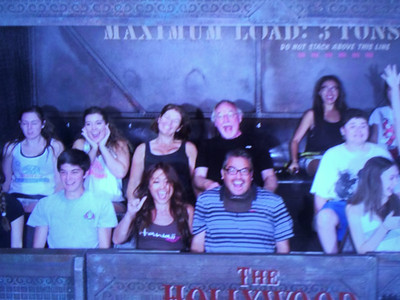 The Hollywood Tower of Terror.  Fun, fun, fun.