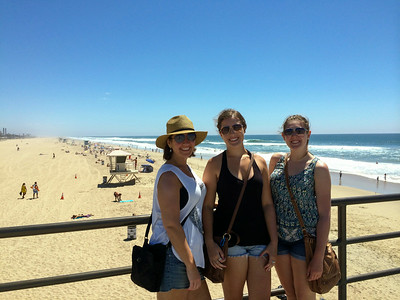 The girls at Huntington Beach.