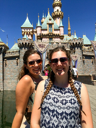 Emma and Kaitlin in front of the castle.  This photo is reminiscent of one I took of them 10 years ago, or more.