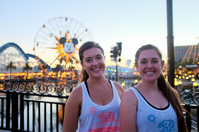 Emma and Kaitlin at California Adventures.