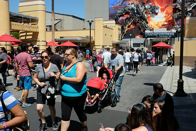 Universal Studios and the Transformers Ride.  The best ride ever!  Wow, was it ever a hot day at Universal.  The temperature topped 100 degrees and standing in lines became unbearable.