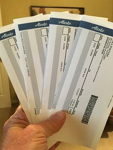 Alaska Air Boarding passes. and ready to go.