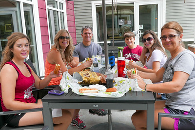 The Creta family joins in to settle in Alexis (who is away at dance camp) while we have lunch and prepare for the first day of move in