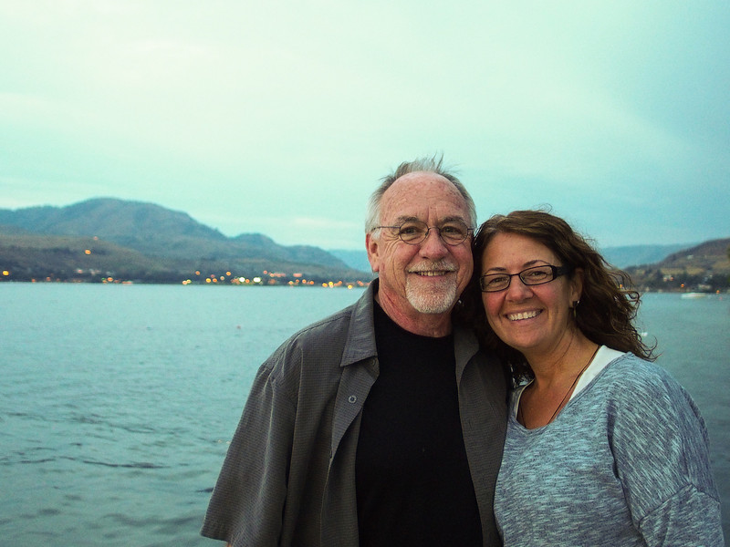 Tom and Lisa on Lake Chelan, Washington