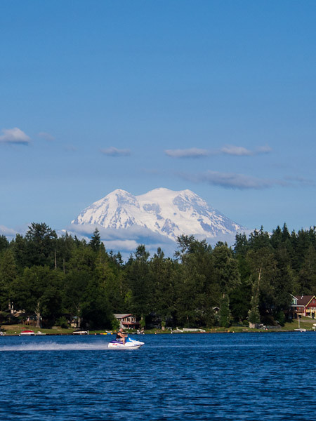Lake Lawrence and Mt. Rainier