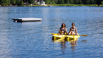 Lisa and Emma out kayaking.