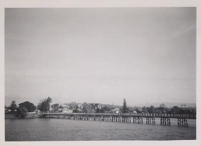Moruya from opposite bank of Moruya River