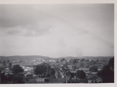 Moruya from hillside - heads in gap in centre of photo