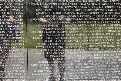 I found a childhood friend here at the Vietnam Memorial Wall