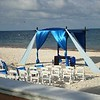 Beach wedding setup<br /> <br /> For more information about Moon Palace contact Romance@SandnSunVacations.com