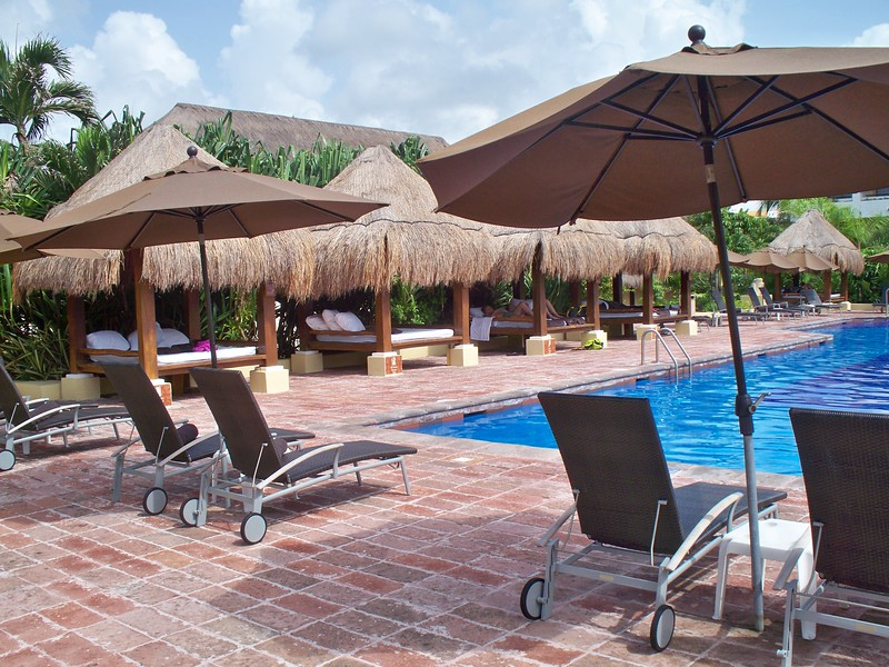 Now Sapphire Adults Only pool - nice shaded beds<br /> <br /> Please contact Romance@SandnSunVacations.com for more information on Now Sapphire or any of the Now, Secrets, or Dreams properties.